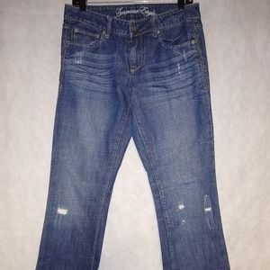 American Eagle Distressed True Boot Jeans Sz 8